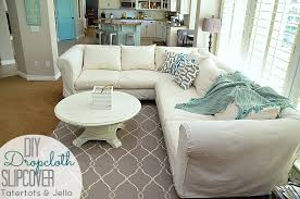 How To Make Slipcovers For Sofas Make A Dropcloth Sofa Sectional Slipcover Jello Living Rooms