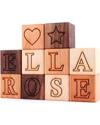 winter bargains on personalized wooden name block sets