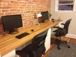 Long Computer Desk by Long Desk Cabinets Drawers On Long Maybe Barn Wood Behind My