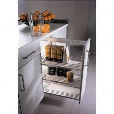 quincaillerie pour cuisine système de paniers coulissants en chrome et gris pour armoires du