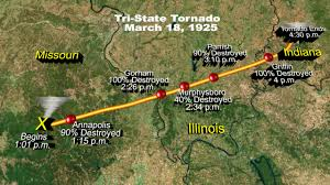 Illinois Tornado Map by Tri State Tornado