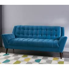 braxton mid century modern retro sofa teal at home at home