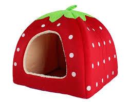 amazon com leegoal cute soft sponge white dots strawberry pet cat