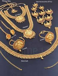 wedding earring necklace set images Wedding jewellery set with ashta lakshmi design indian bridal jpg