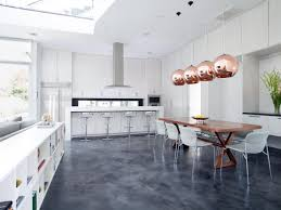 Gloss White Kitchen Cabinets Modern White Kitchen Cabinets Amazing Red Glass Shade Pendant