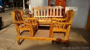 Brand New Assam Teak Wood Sofa Set  With Removable Cushion - Teak wood sofa sets