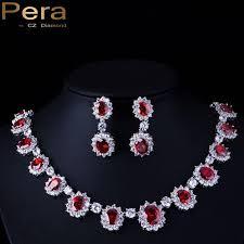 cubic zirconia necklace sets images Big round cubic zirconia luxury bridal wedding royal blue stone jpg