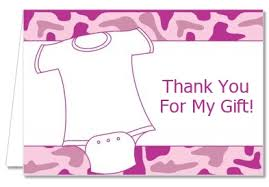 thank you notes for baby shower baby shower thank you cards baby pink camo thank you notes