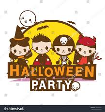 an illustration of halloween party kids royalty free cliparts