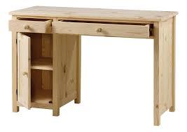 bureau en pin massif bureau en pin massif brut 2 tiroirs 1 porte grenier alpin