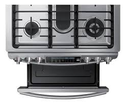 Slide In Cooktop Samsung 5 8 Cu Ft Self Cleaning Slide In Gas Convection Range