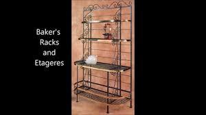 Oak Hill Bakers Rack Wrought Iron Baker U0027s Racks Iron Etageres Grace Iron Furniture