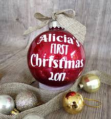 Christmas Ornament Gif Personalised Christmas Bauble Baby U0027s First Christmas