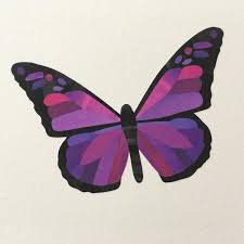 pink and purple butterfly wall stickers chameleon wall
