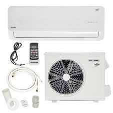 hallman 18 000 btu 1 5 ton ductless mini split air conditioner