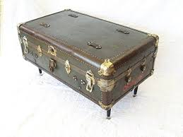 antique vintage steamer trunk coffee table canada thippo