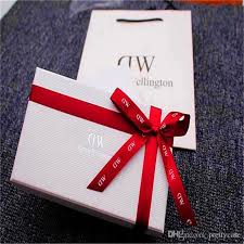 bow boxes luxury brand dw original retial box cases with