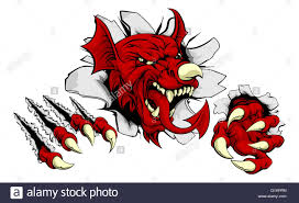 Th Flag Welsh Red Dragon Y Ddraig Goch With The Same Features As On The