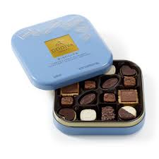 chocolate biscuit tin 50 pc godiva