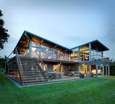 great home designs earthy timber clad interiors vs glass exteriors cottage