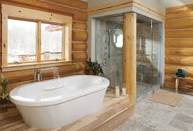 30 warm and cozy log bathroom design ideas