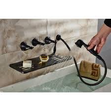 Roman Tub Faucet Bronze Roman Oil Rubbed Bronze Waterfall Bathtub Faucet Hand Held Shower Head