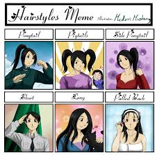 M Meme - hairstyles meme by mari m rose on deviantart