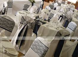 lace chair sashes designs venue dressing and chair cover hire for weddings