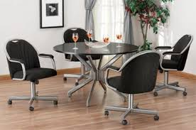Kitchen Chairs With Rollers by Dining Room Table With Roller Chairs Best Dining Room Intended For