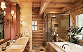 bathroom country rustic bathroom design idea with natural log