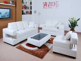 Ideas White Leather Chairs For Living Room On Vouumcom - White leather living room set
