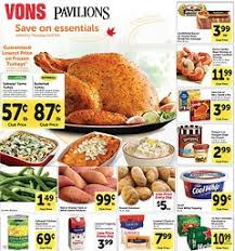 vons weekly ad november 19 27 2014 save on thanksgiving essentials