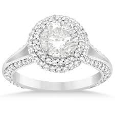 engagement ring setting halo diamond engagement ring setting 14k white gold 1 00ct
