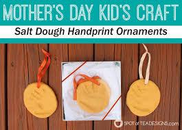 s day craft salt dough handprint ornament spot of tea
