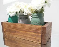 mason jar and planter box centerpiece kitchen utensil set
