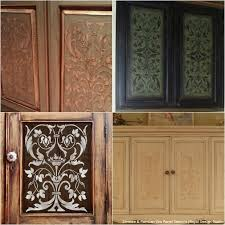 Cabinet Wood Doors 20 Diy Cabinet Door Makeovers With Furniture Stencils Royal