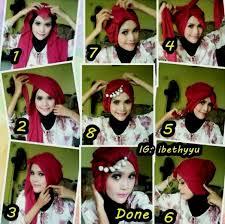 tutorial hijab pesta 2 kerudung kumpulan tutorial hijab cocok untuk lebaran