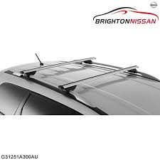 nissan murano z51 towbar new genuine nissan roof cross bars g31251a300au rrp 475 ebay