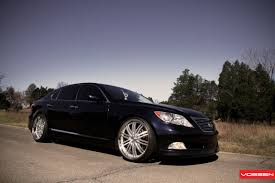 lexus ls custom drop of luxury black lexus ls460 enhanced by vossen u2014 carid com