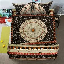 Duvet Quilt Cover 4 Pc Doona Cover Set With Bedspread Indian Astrology Duvet Quilt Cover