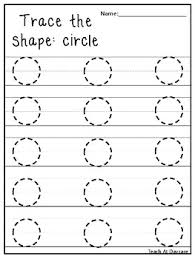trace the shapes tracing worksheets preschool kdg math by teach