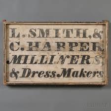 painted wood milliner dressmaker u0027s trade sign america c 1830