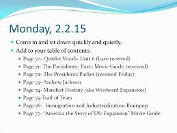 early presidents and westward expansion ppt video online download