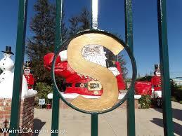 santa land here lighted sign santa claus weird california
