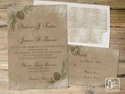 winter wedding invitations pinecone winter wedding invitation rustic wedding invitation