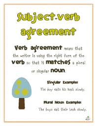 introduce your kids to subject verb agreement using this fun