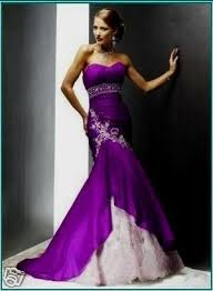 wedding dresses with purple detail purple mermaid wedding dress naf dresses