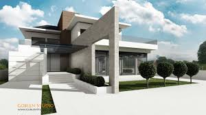 modern house entrance architectural visualization luxury modern suburban house