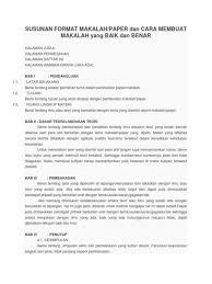 artikel format paper ilmiah contoh paper lengkap dan 13 cara membuatnya format susunan