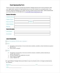 sponsorship forms templates